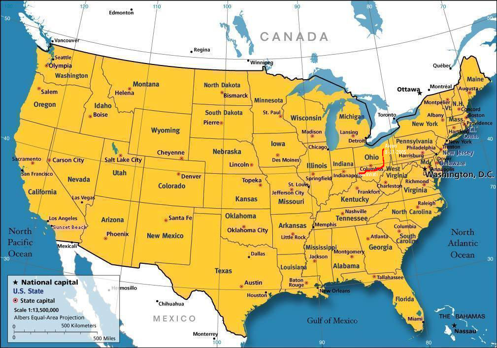 Where Is Ohio Located Location Map Of Ohio USA Ohio State - Ohio in the us map